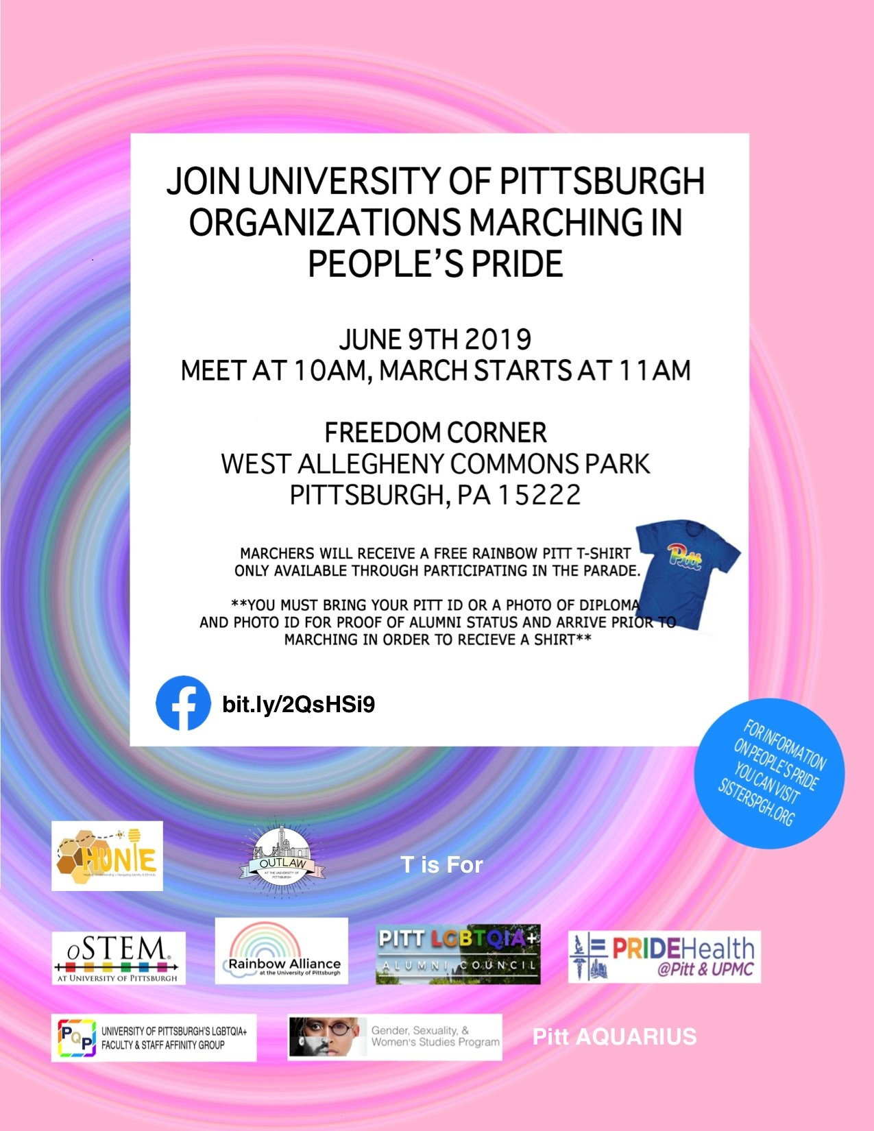 Epcc Academic Calendar.Pitt People S Pride Parade Events At Pitt Public Health
