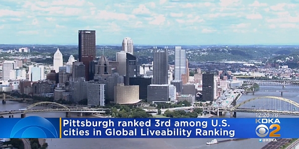 Pittsburgh ranked 3rd among U.S. cities in Global Livability rankings