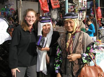 April with women who craft traditional men's hats